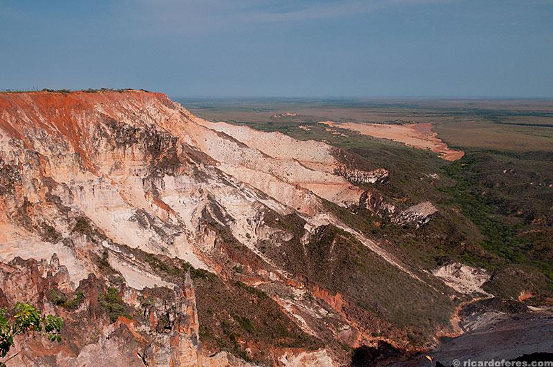 Vista a partir da serra do Espírito Santo com dunas ao fundo