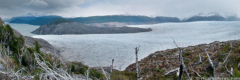 Glaciar Grey visto do cume do Paso