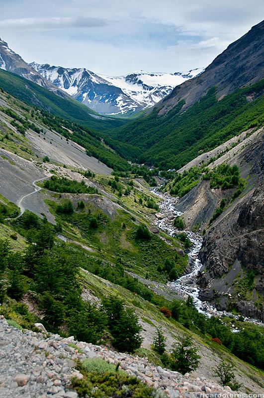 Subida para as Torres del Paine