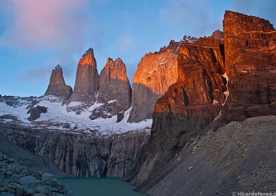 Trekking in Torres del Paine, Chile