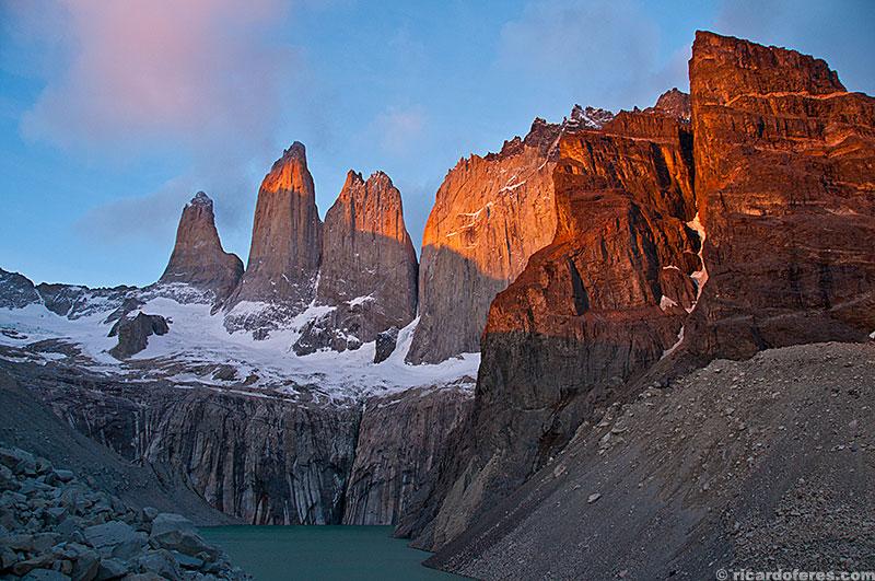 Amanhecer nas Torres del Paine