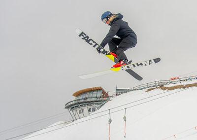 Esquiando na Áustria