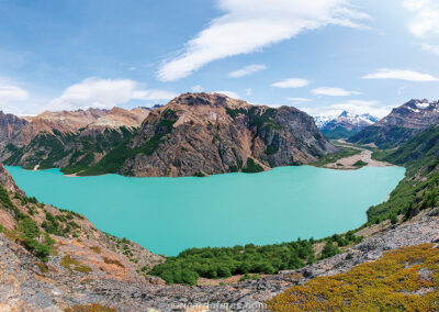Lago Verde, Patagonia National Park, Chile. Photo with 61 cm x 31 cm (24 in x 12 in).