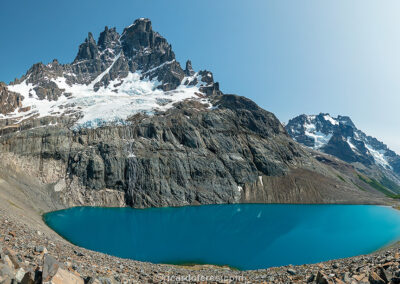 Cerro Castillo (2,675 m / 8,776 ft), Cerro Castillo National Park, Chile. Photo with 61 cm x 31 cm (24 in x 12 in).