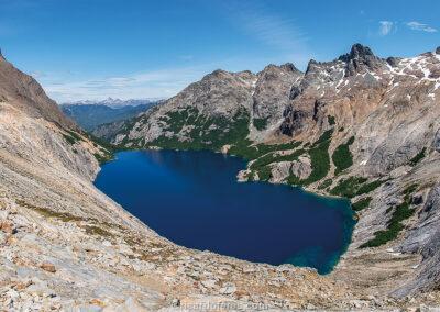 Laguna Azul, Nahuel Huapi National Park, Bariloche, Argentina. Photo with 61 cm x 31 cm (24 in x 12 in).