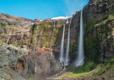 Cachoeiras do Glaciar Castaño Overa, Parque Nacional Nahuel Huapi, Bariloche, Argentina. Foto com 47 cm x 31 cm.