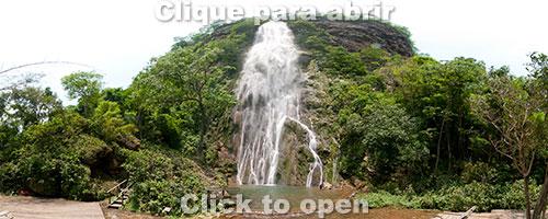 Cachoeira Boca da Onça, a mais alta do MS, com 156 metros