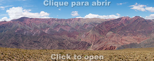 Serranía de Hornocal, Humahuaca