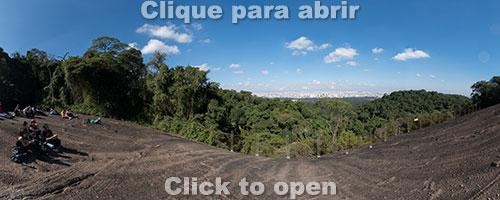 São Paulo vista da Pedra Grande do Horto Florestal